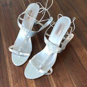 Shoes - Silver glitter heels
